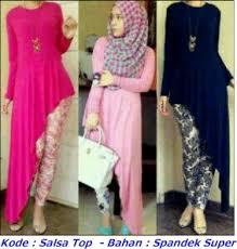 Grosir Baju Muslim grosir baju dan busana muslim salsa top spandek pabrik baju rajut