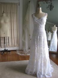 sculpted lace wedding dress bridal gown beach wedding dress hippie