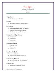 exles of a basic resume basic resume layout exles for students schatzi school recent
