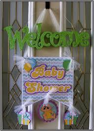 baby shower door decoration