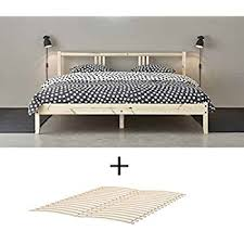 amazon com ikea wood full double bed frame with slatted base