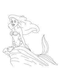 printable princess ariel coloring pages free eric
