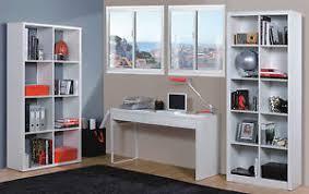 Computer Desk White Gloss Milan White Gloss Computer Desk Table Bookcase Office Furniture