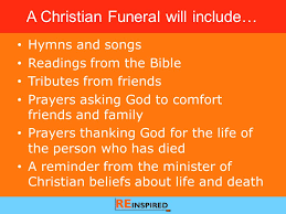 Hymns Of Comfort Death Funerals U0026 The Christian Response An Re Lesson For Years 5