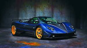 blue pagani zonda 2017 pagani zonda tricolore hd car wallpapers free download