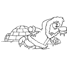 igloo is house of eskimo colouring page colouring tube