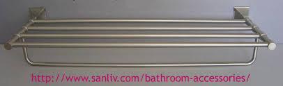 sanliv brushed nickel towel shelf luxury bathroom accessories