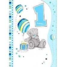 me to you bears 1st birthday boy card