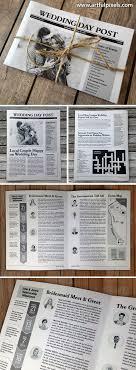 newspaper wedding programs newspaper wedding programs designed by artful pixels useful
