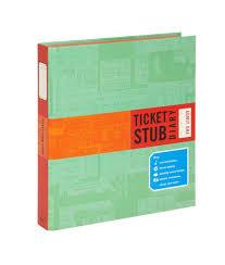 ticket stub album ticket stub diary on a journey