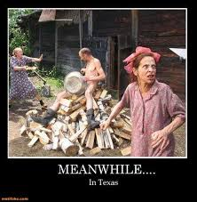 Meanwhile In Texas Meme - demotivational poster boy scout kid dressed like an idiot led by