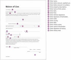 waiver of lien template step by step free lien waiver form