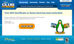 club penguin gift card club penguin free membership card 2013 free giveaway hurry up
