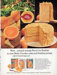 vintage 1968 betty crocker cake mix magazine ad sunkist orange