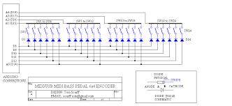midi usb bass pedal arduino
