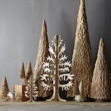 wooden cutout trees west elm
