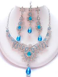 indian necklace set images Blue tone indian necklace set khushrang colorful indian fashion jpg