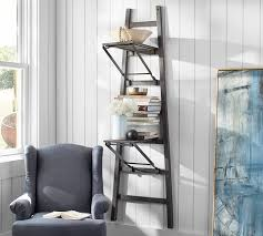 Wall To Wall Bookcases Wood Wall Shelf Pottery Barn