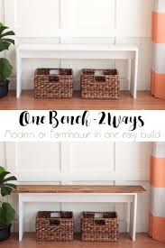 Modern Furniture Diy by Easy Diy Bench Modern Or Farmhouse Southern Revivals