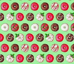 donut wrapping paper christmas donuts wallpaper tictactogs spoonflower