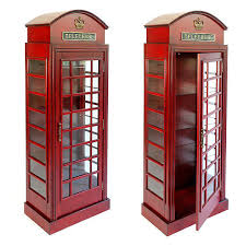 london phone booth bookcase english style telephone booth cabinet london red glass shelves 5 5