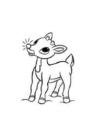 cartoon rudolph drawing cute baby reindeer clipart clipart kid