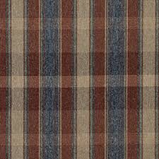 rustic red blue green and beige plaid country upholstery fabric