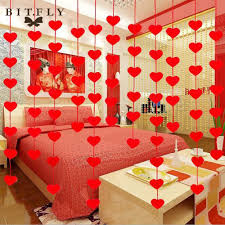 Home Decoration Birthday Party Online Get Cheap Wedding Decoration Curtains Red Aliexpress Com
