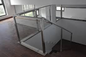 barandilla de cristal escaleras de acero inoxidable y cristal excellent barandas de