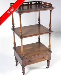 Antique Etagere B346 Antique Scottish Victorian 3 Tiered Solid Rosewood Etagere