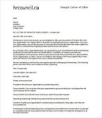 9 offer letter samples free sample example format free