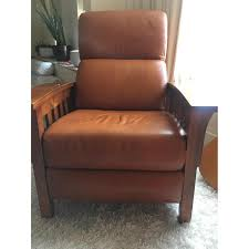 ethan allen mission style leather recliner aptdeco