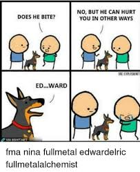 Fullmetal Alchemist Memes - 25 hilarious nina tucker memes from full metal alchemist