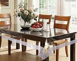 dining table cover clear casa furnishing 6 seater pvc table cover clear silver less 60x90