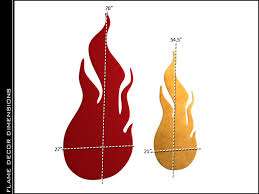 Flame Decorations Flames Theater Wall Accessories