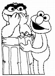 animations 2 coloring pages sesame street