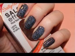 tutorial sally hansen salon effects nail polish strips youtube