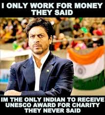 Charity Meme - the only indian to receive unesco award for charity indianthing