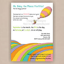 dr seuss baby shower invitation oh the places you will go
