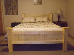 Building A Platform Bed Out Of Wooden Pallets by Nice Bed Made Out Of 2x4 U0027s And 1x4 U0027s Cabins Pinterest
