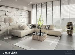 3d rendering loft apartment interior stock illustration 149158988