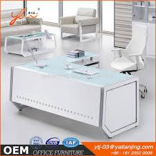 Office Table White Modern Glass Office Desk Modern Glass Office Desk Suppliers And