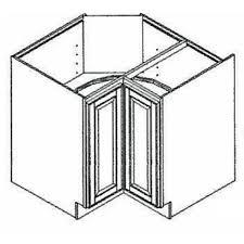 how big is a corner base cabinet 36 wide diagonal corner base charleston cognac maple kitchen cabinet