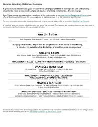 Ct Resume Personal Statement Examples For Resume Resume For Your Job