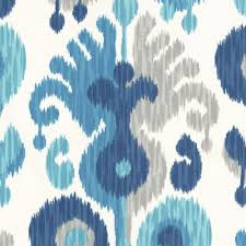 blue u0026 aqua ikat outdoor fabric indian summer river loom