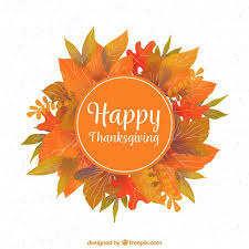 thanksgiving background with leaves vector free