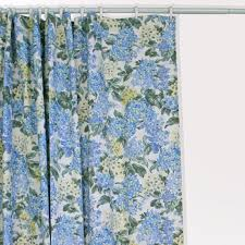 Cloth Shower Curtains Hydrangea Floral Print Fabric Shower Curtain Window Toppers