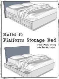 Diy Full Size Platform Bed With Storage Plans by Free Plans To Build A Cal King Platform Storage Bed Feelin