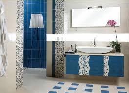 simple blue and black bathroom ideas for