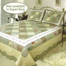 Quilted Bedspread King Ashley Cotton Patchwork Quilt Bedding